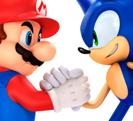Mario and Sonic team up again for the 2014 Sochi Winter Olympic Games