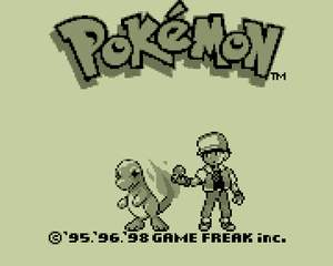 PokemonRed + pokemon blue title screen b and w.png