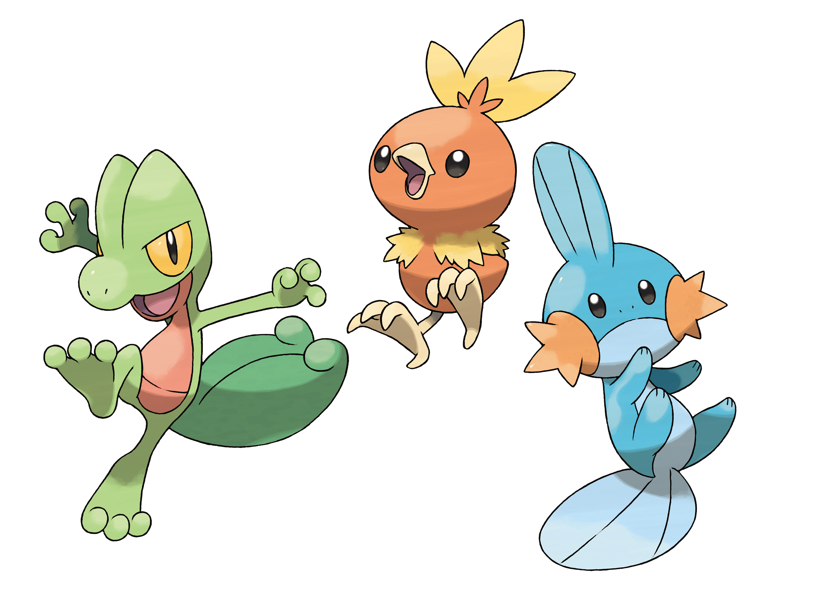 Treecko Torchic Mudkip Group Layersremoved Vooks