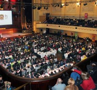 700 competitors battle it out at the Melbourne Town Hall
