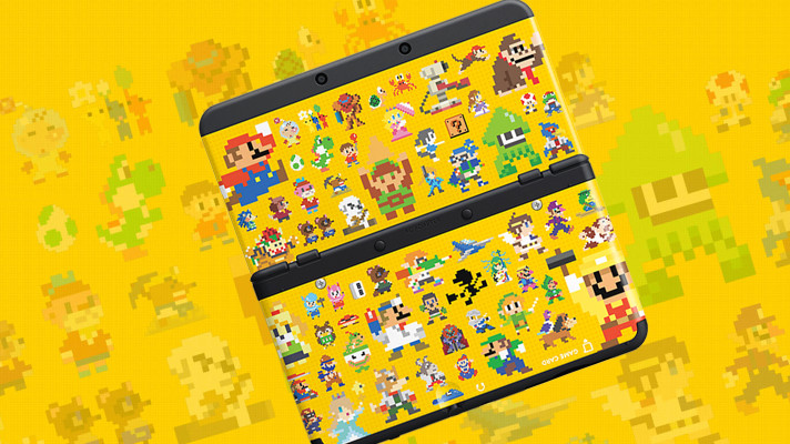 This Super Mario Maker New 3DS faceplate is beautiful