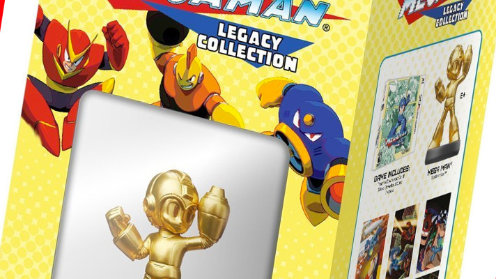 Mega Man Legacy Collection gets gold amiibo, exclusive to the US
