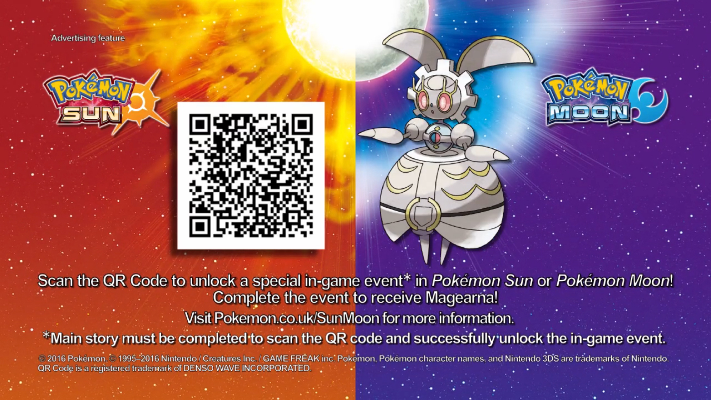 Get Magearna in Pokémon Sun and Moon with this QR Code - 3DS News ...