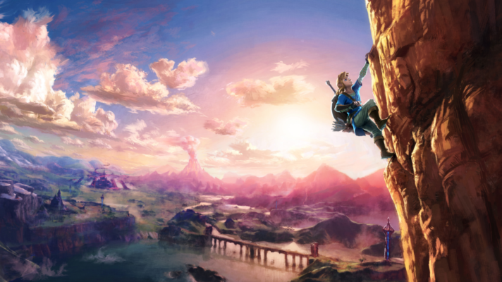 Screens from The Legend of Zelda Breath of the Wild to help pass the time