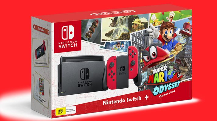 EB Games has the Super Mario Odyssey Switch bundle listed at $549.95
