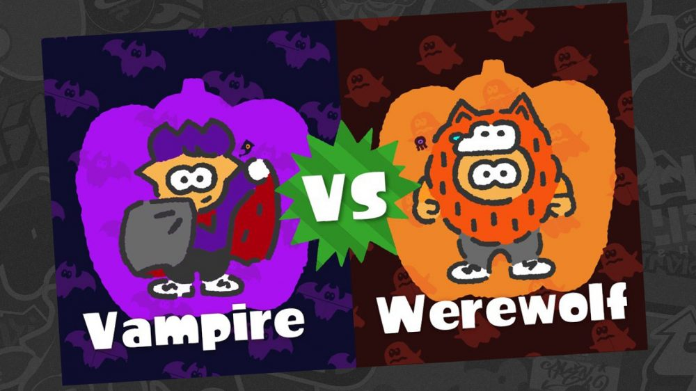 Splatoon 2's Latest North American Splatfest Announced as Vampires vs Werewolves
