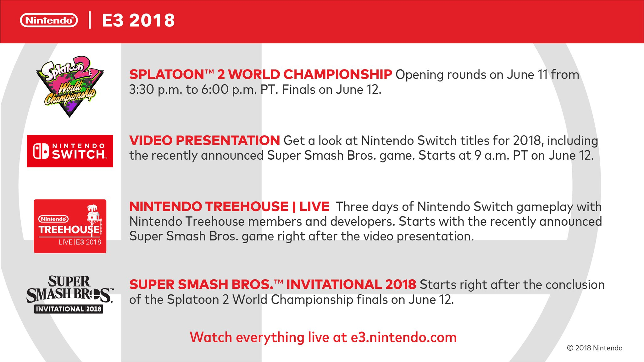 Nintendo announces E3 2018 plans