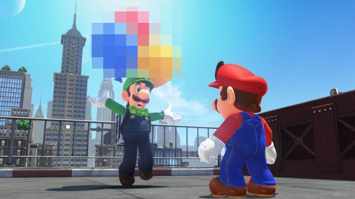 Porn appearing in Super Mario Odyssey's balloon world mode