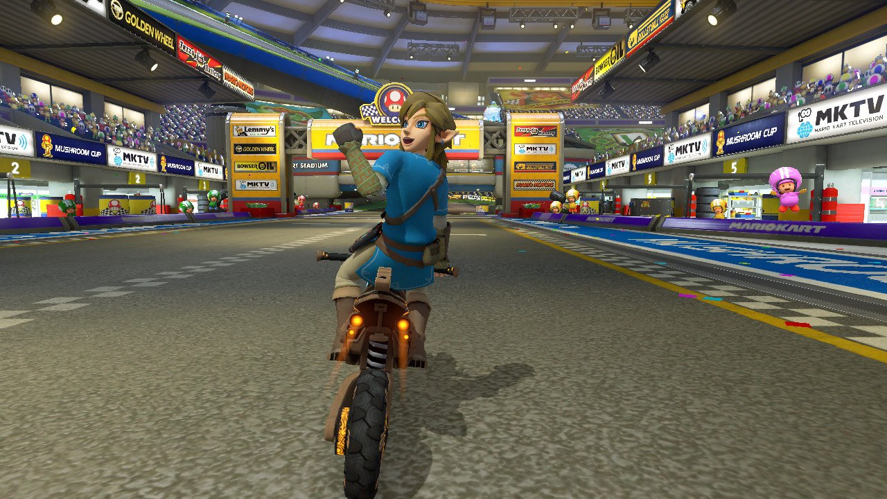 Mario kart 8 deluxe update adds champion 39 s tunic link master cycle zero and more vooks - How do you get the master cycle zero ...
