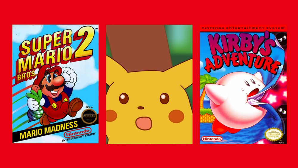 Super Mario Bros  2 and Kirby's Adventure are your February