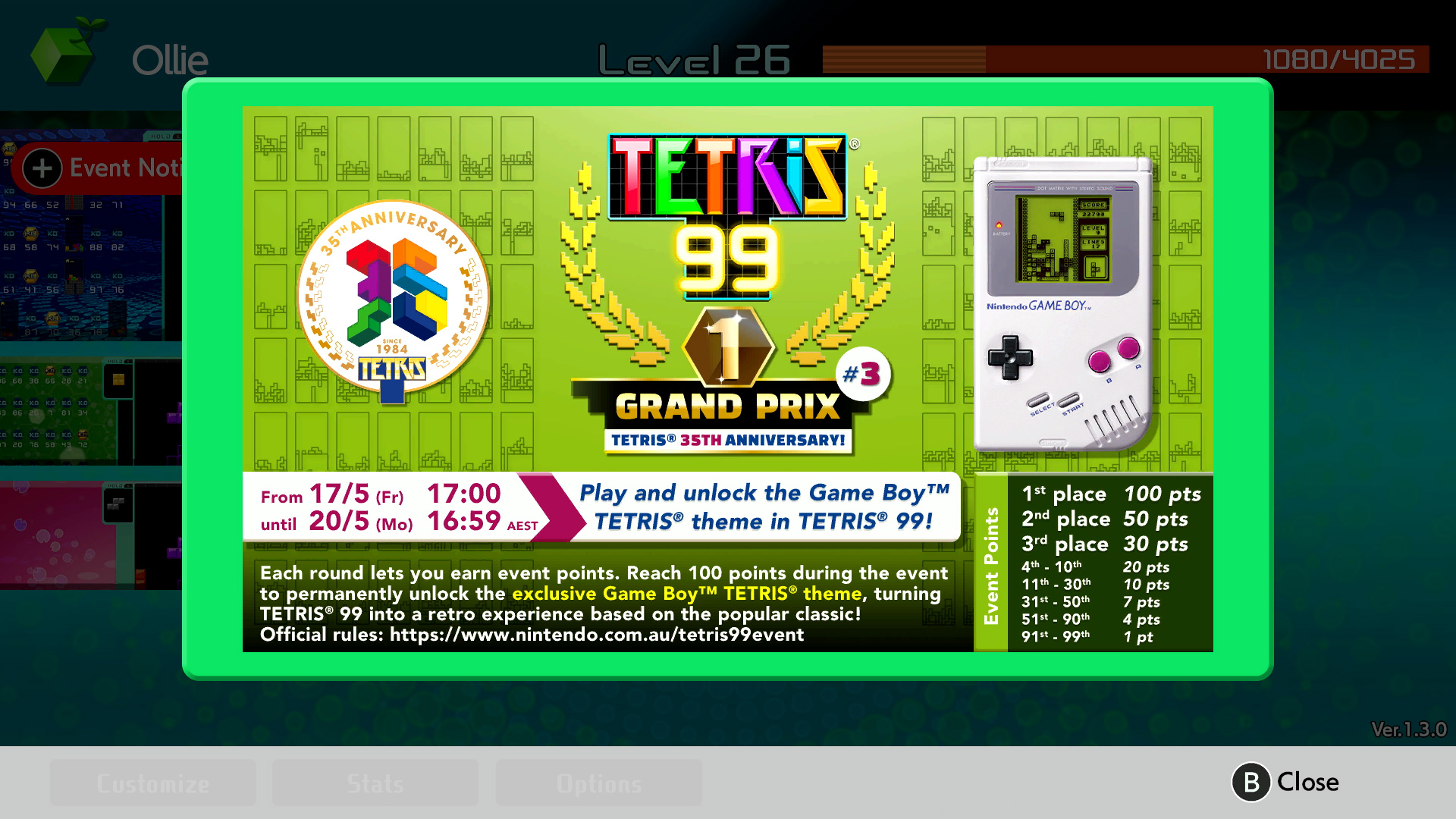 Big Block DLC announced for Tetris 99