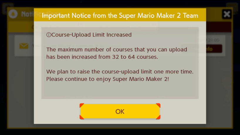 Nintendo doubles Mario Maker 2 course limit | VGC