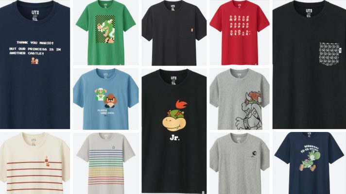 UNIQLO's Super Mario Family Museum shirts in Aussie stores from today