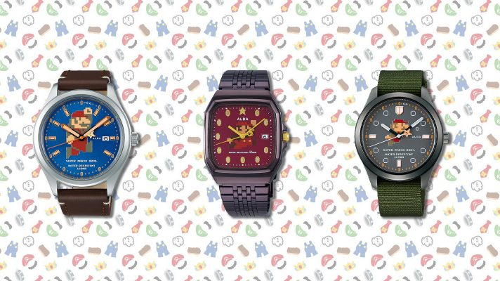 It's Mario time with these new Seiko Super Mario themed watches