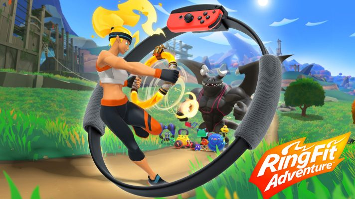 Nintendo's new Switch experience a new adventure game called Ring Fit Adventure + new Ring-Con