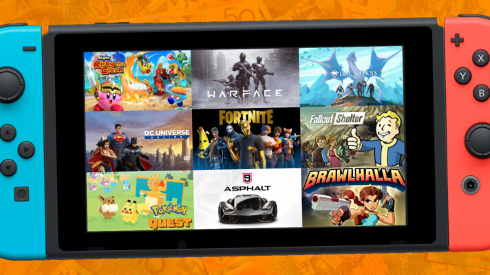 Enjoy these free to play games on Switch